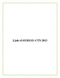 Lệnh số 03/2013/L-CTN 2013