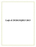 Luật số 29/2013/QH13 2013