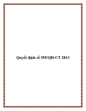 Quyết định số 595/QĐ-CT 2013