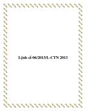 Lệnh số 06/2013/L-CTN 2013