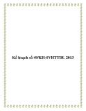 Kế hoạch số 49/KH-SVHTTDL 2013