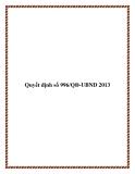 Quyết định số 996/QĐ-UBND 2013