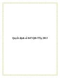 Quyết định số 847/QĐ-TTg 2013
