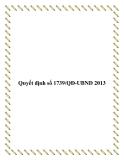 Quyết định số 1739/QĐ-UBND 2013