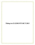 Thông tư số 12/2013/TT-BCT 2013