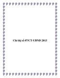 Văn bản chỉ thị số 07/CT-UBND 2013