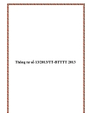 Thông tư số 13/2013/TT-BTTTT 2013