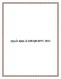 Quyết định số 658/QĐ-BNV 2013