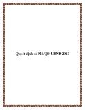 Quyết định số 921/QĐ-UBND 2013