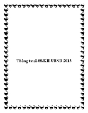 Thông tư số 88/KH-UBND 2013