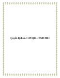 Quyết định số 1135/QĐ-UBND 2013