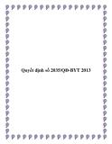 Quyết định số 2035/QĐ-BYT 2013