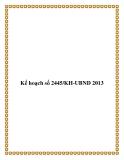 Kế hoạch số 2445/KH-UBND 2013