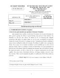 Đề thi chọn HSG Tiếng Pháp vòng 1 - Sở GD&ĐT Ninh Bình (2012-2013)