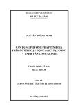 Tóm tắt luận văn thạc sĩ: Vận dụng phương pháp tính giá trên cơ sở hoạt động (ABC) tại Công ty TNHH Tân Long Granite