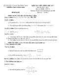 Đề KTCL HK1 Toán 10 - THPT Tràm Chim 2012-2013 (kèm đáp án)