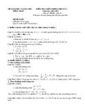 Đề KTCL HK1 Toán 10 - THPT Thanh Bình 1 (2012-2013) - Kèm đáp án