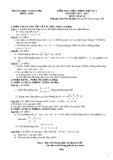 Đề KTCL HK1 Toán 10 - Sở GD&ĐT Đồng Tháp 2011-2012 (kèm đáp án)