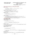 Đề KTCL HK1 Toán 10 - THPT Nguyễn Đình Chiểu 2012-2013 (kèm đáp án)