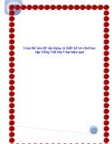 SKKN: Làm thế nào để vận dụng và thiết kế trò chơi học tập Tiếng Việt lớp 5 đạt hiệu quả