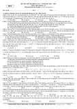 Đề thi thử đại học lần 2 Môn Vật lý khối A, A1 2013 – 2014