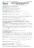 Bộ đề thi thử Đại học môn Toán khối D năm 2014 - Thầy Đặng Việt Hùng