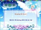 Slide bài Vẽ đường diềm trên áo, váy - Mỹ thuật 1 - GV.N.Hồng Nhung