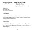 Đề KTCL HK1 Văn 11 - THPT Thanh Bình 1 (2012-2013) - Kèm đáp án