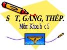 Bài 23: Sắt, gang, thép - Bài giảng điện tử Khoa học 5 - L.K.Chi