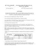 Quyết định 24/2013/QĐ-TTg sửa đổi Quyết định 36/2011/QĐ-TTg