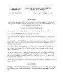Quyết định số 30/2013/QĐ-UBND