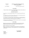 Quyết định 627/QĐ-BNV năm 2013