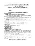 Giáo án Lịch sử 6 bài 8: Thời nguyên thủy trên đất nước ta