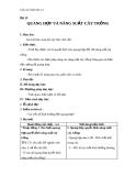 Giáo án bài 11: Quang hợp và năng suất cây trồng - Sinh học 11 - GV.T.V.Phúc