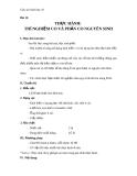 Giáo án Sinh học 10 bài 12: Thực hành thí nghiệm co và phản co nguyên sinh