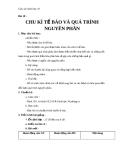 Giáo án bài 18: Chu kì tế bào và quá trình nguyên phân - Sinh học 10 - GV.T.V.Phúc