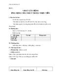 Giáo án bài 31: Virut gây bệnh. Ứng dụng của virut - Sinh học 10 - GV.T.V.Phúc