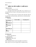 Giáo án bài 32: Bệnh truyền nhiễm và miễn dịch - Sinh học 10 - GV.T.V.Phúc