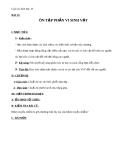 Giáo án bài 33: Ôn tập phần sinh học vi sinh vật - Sinh học 10 - GV.T.V.Phúc