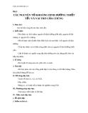 Giáo án Sinh học 11 bài 10: Ảnh hưởng của các nhân tố ngoại cảnh đến quang hợp