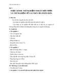 Giáo án Sinh học 11 bài 7: Thực hành - Thí nghiệm thoát hơi nước và thí nghiệm về vai trò của phân bón