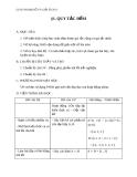 Giáo án bài Quy tắc điếm - Đại số 11 - GV. Trần Thiên