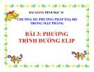 Bài giảng Phương trình đường elip - Hình học 10 - GV. Trần Thiên