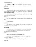 Giáo án bài Đường thẳng và mặt phẳng song song - Hình học 11 - GV. Trần Thiên