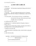 Giáo án bài Phép thử và biến cố - Đại số 11 - GV. Trần Thiên