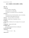 Giáo án bài Phương trình đường thẳng - Hình học 10 - GV. Trần Thiên