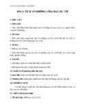 Giáo án bài Tích vô hướng của hai vectơ - Hình học 10 - GV. Trần Thiên