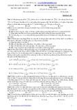 Đề thi thử đại học đợt 2 môn Vật lý năm 2014 - ĐH KHTN THPT Chuyên