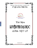 Tài liệu luyện thi Đại học môn Vật lý  - TTGDĐT Quang Trung