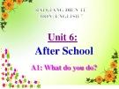Bài giảng Tiếng Anh 7 Unit 6: After school